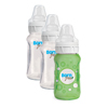 Glass Bottle with Sleeve - 3-Pack