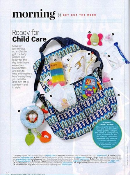 Taking a young one to child care?  Working Mother magazine named our Calm
